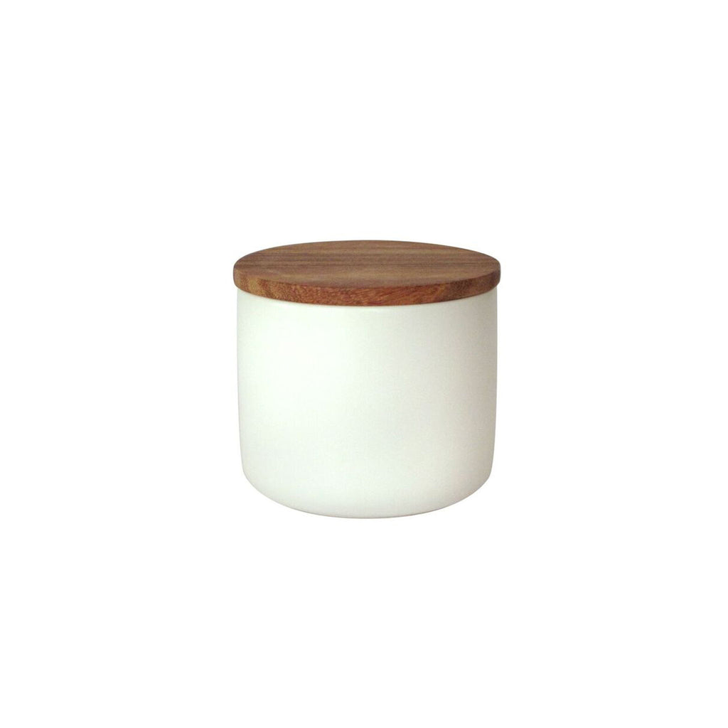 Stoneware Container with Acacia Lid: Medium