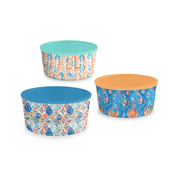 Bali Brights Lidded Bowls Set of 3