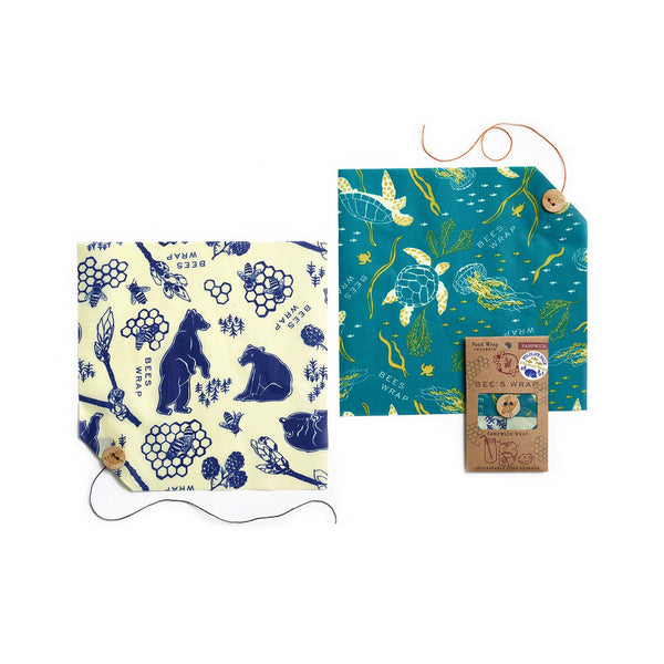 Bee's Wrap Wildlife 2 Pack