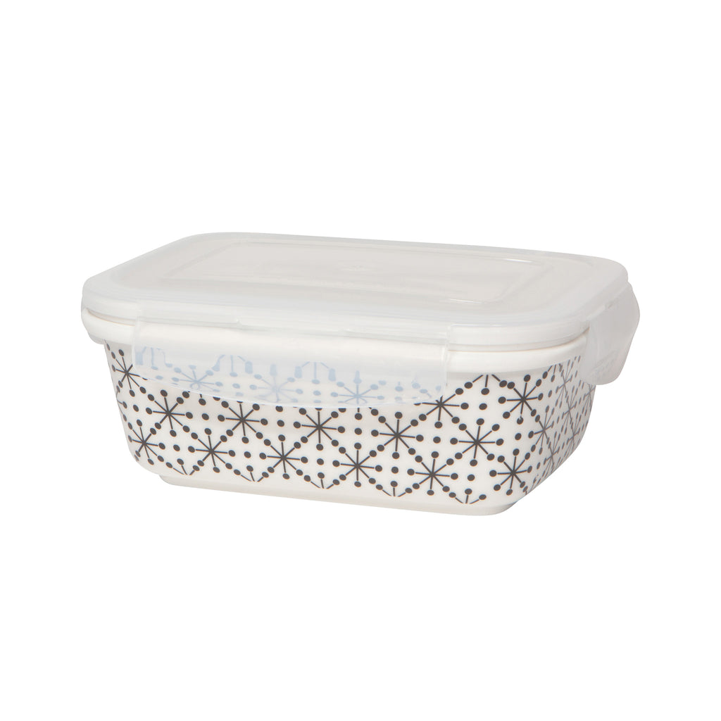 Snack & Serve Container - Grey Geo