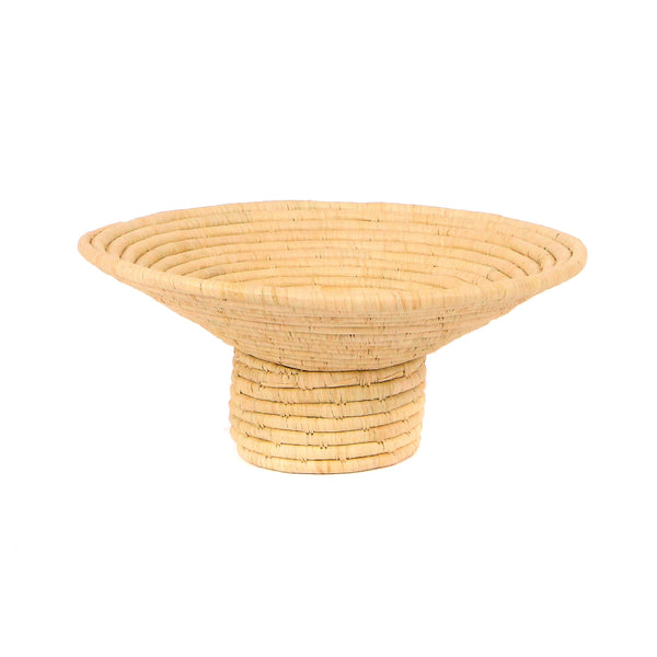 Natural Pedestal Bowl