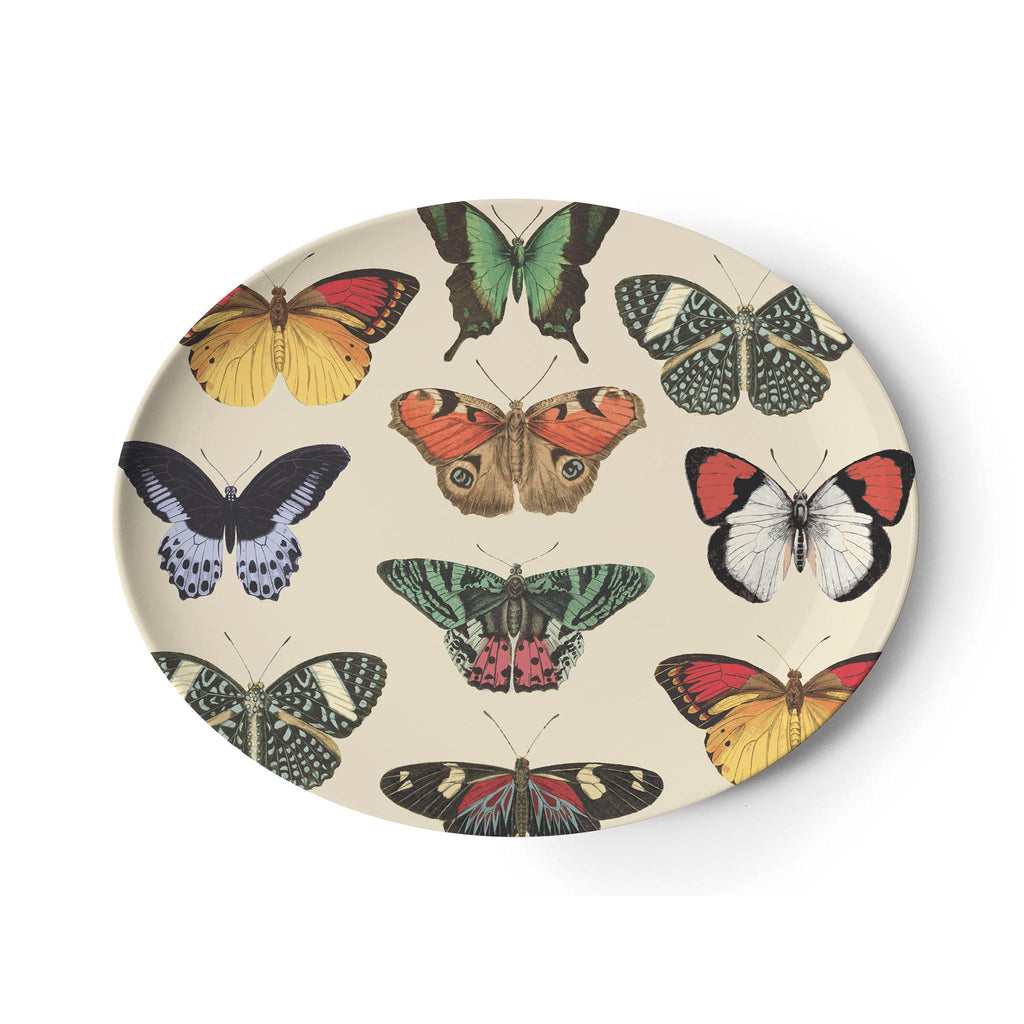 Metamorphosis Butterfly Oval Tray