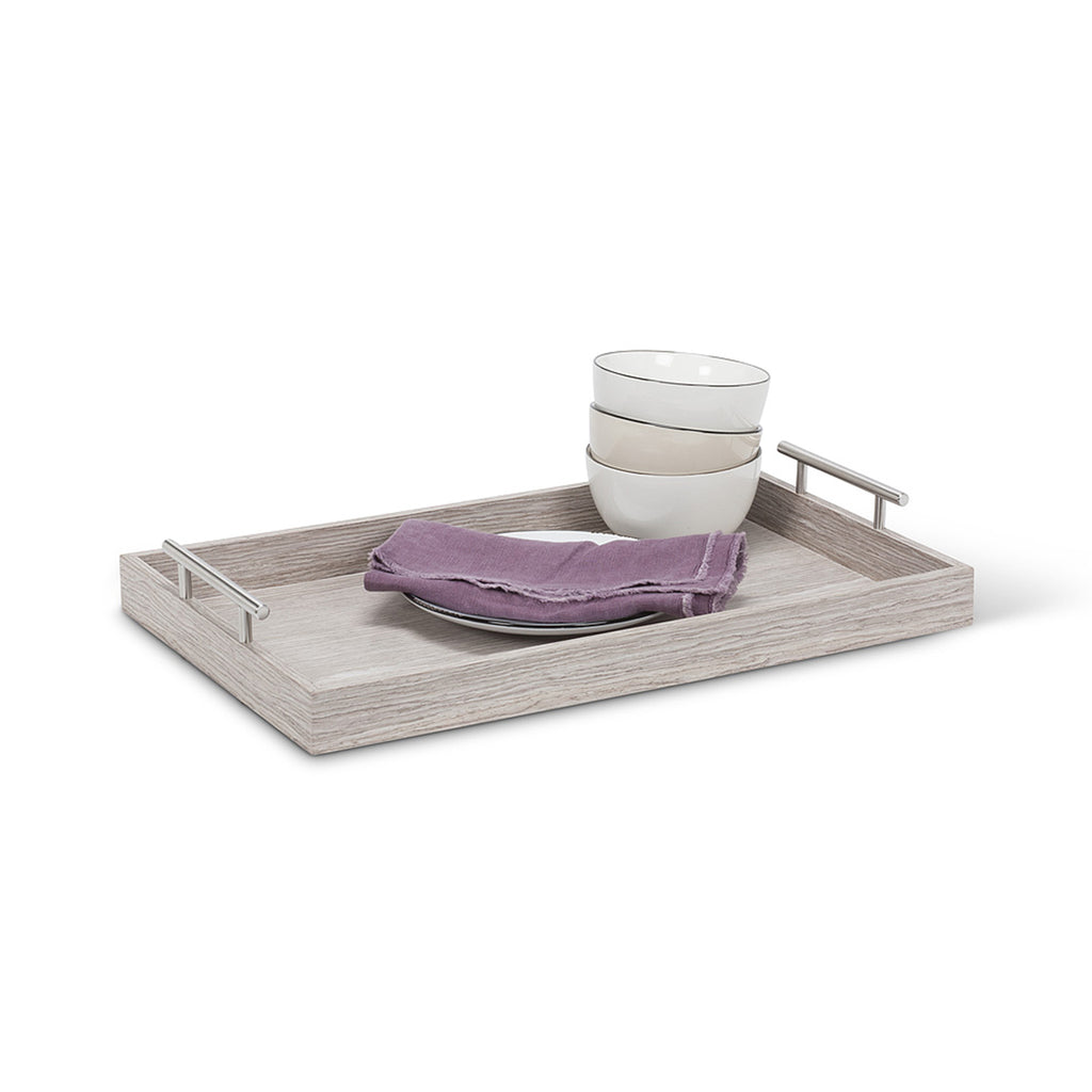 Wooden Butler Tray with Handles