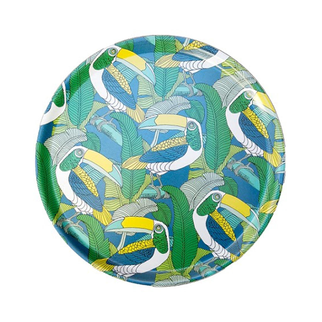 South African Melamine Round Tray - Toucans