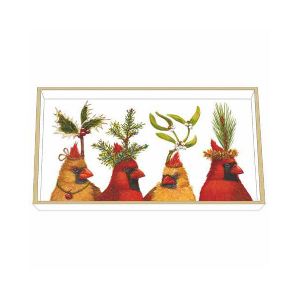 Vicki Sawyer Wooden Tray - Holiday Party