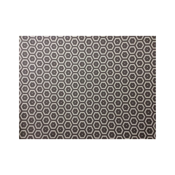 Acrylic-coated French Tablecloth - Honeycomb Grey