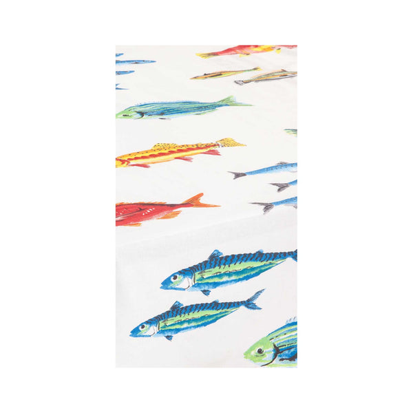 Acrylic-coated French Tablecloth - Calanques Fish