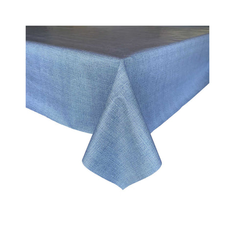 Laminated Cotton Tablecloth - Denim