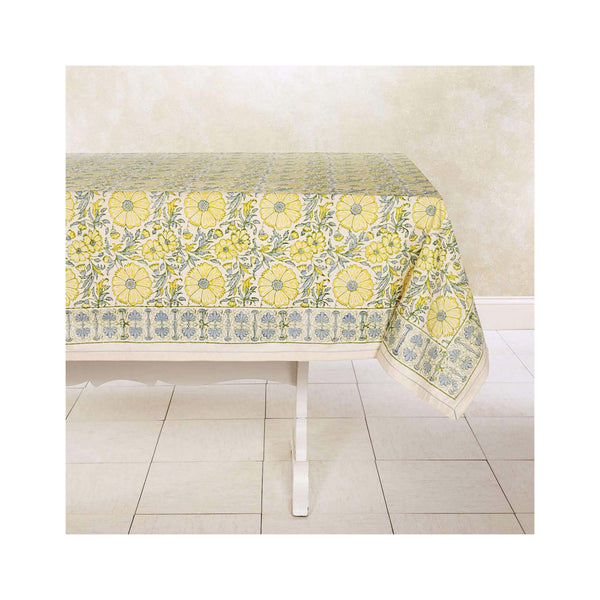 Blooming Wheat Block Printed Tablecloths