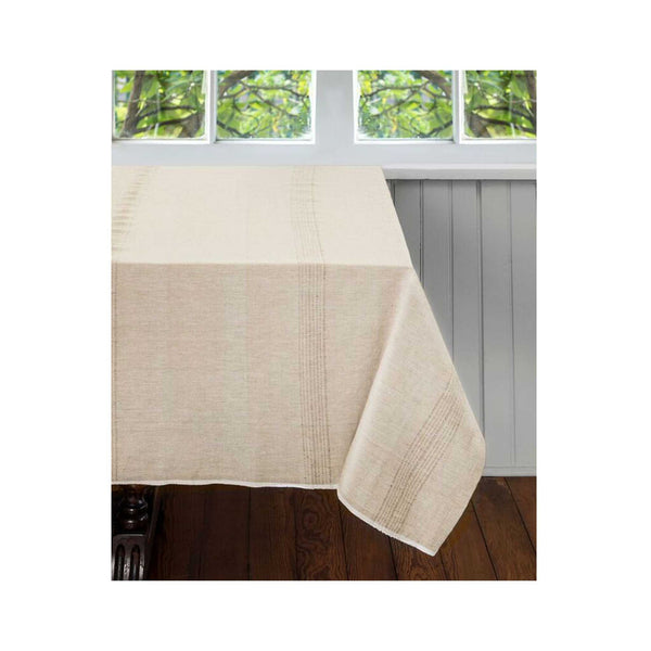 Superieur Hand Woven Cotton Tablecloth: Whipped Cream