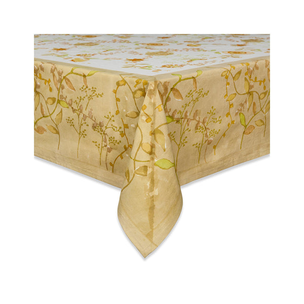 Treetop Tablecloth - Yellows & Greens
