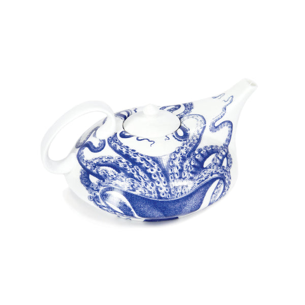 Blue Lucy Octopus Contemporary Teapot