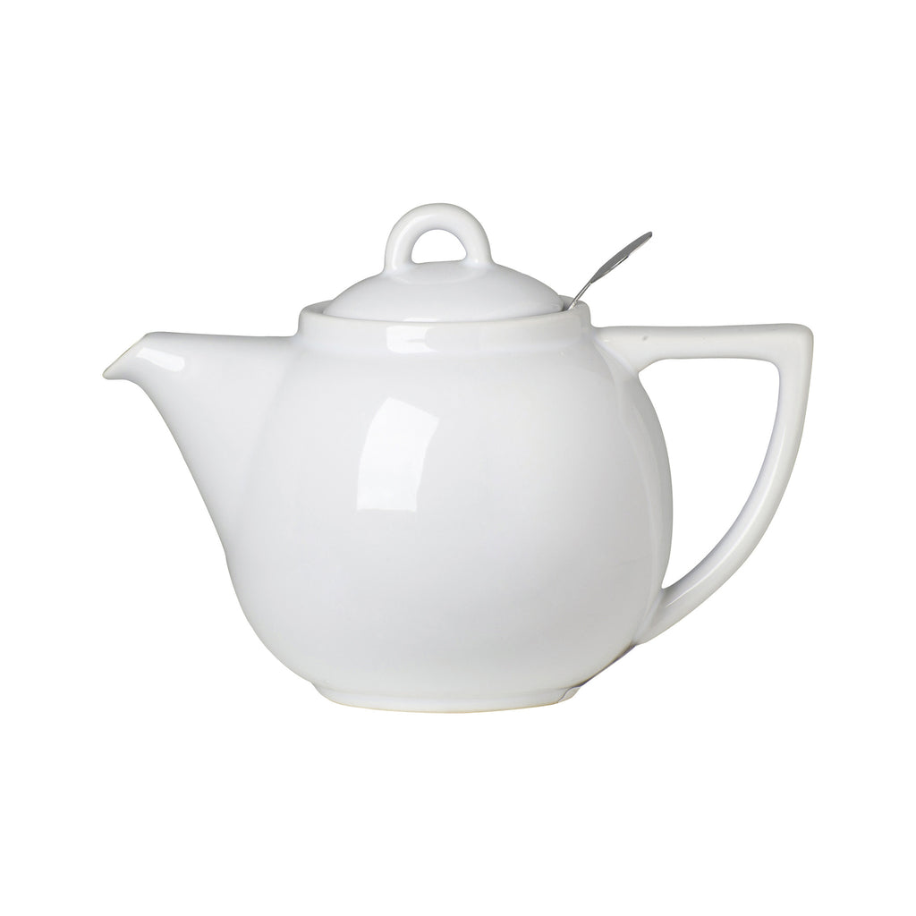 Geo Filter 2 Cup Teapot - White