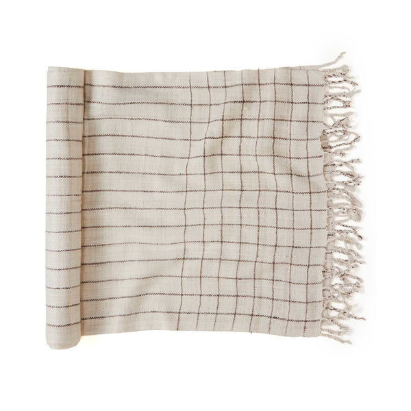 Cruelty-Free Silk Runner - Plaid