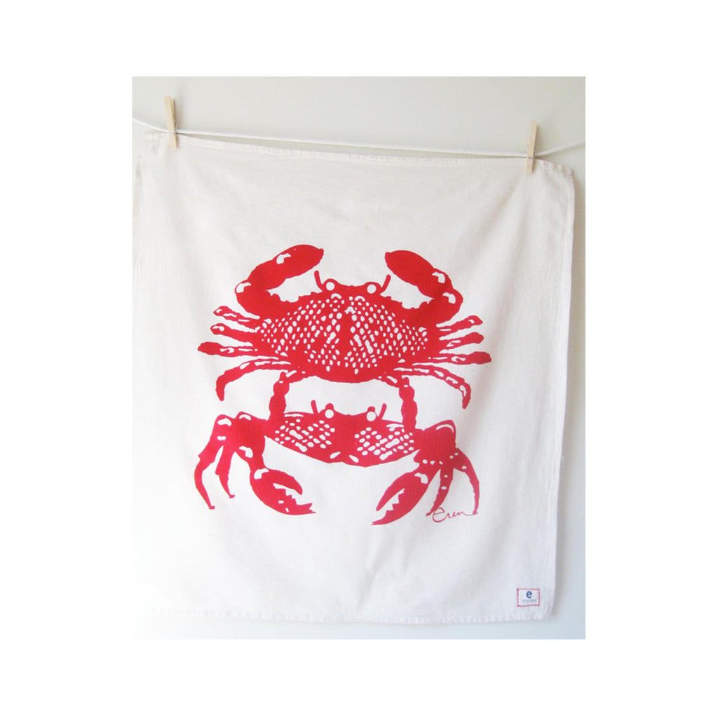 Erin Flett Tea  Towel - Crabbies