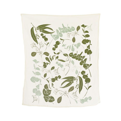 Flour Sack Tea Towel - Eucalyptus Towel