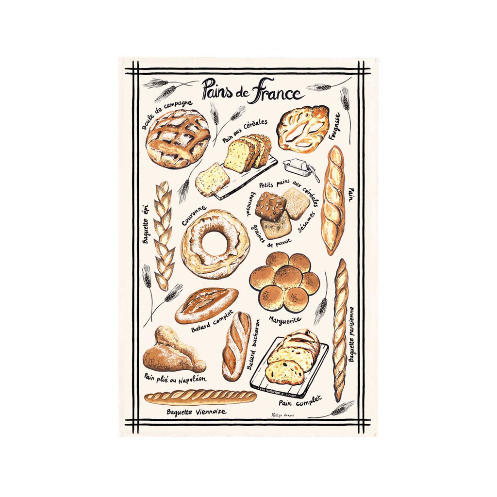 French Tea Towel - Pains de France