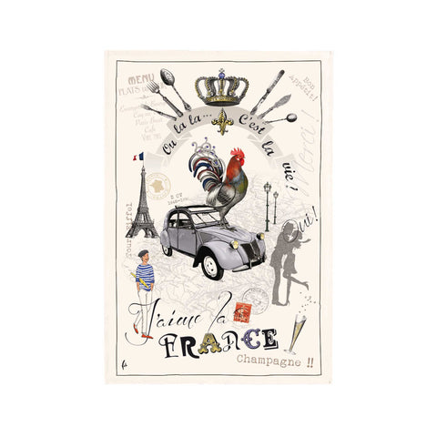 French Tea Towel - France Panorama