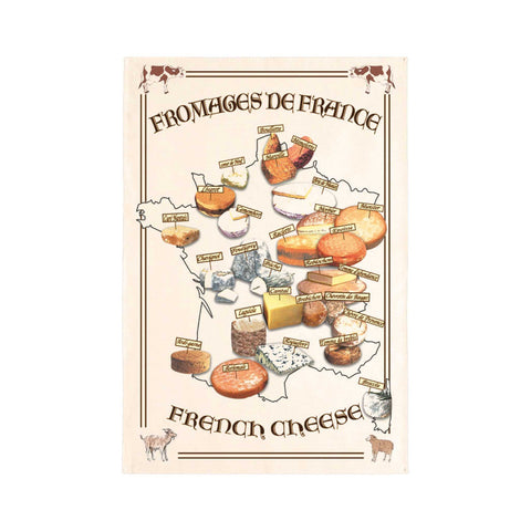 French Tea Towel - Fromages