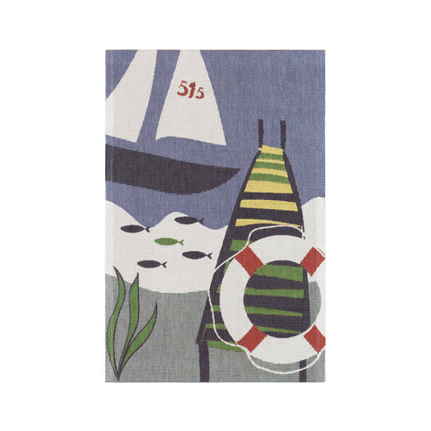 Ekelund Extra Large Kitchen Towel - Sailboat