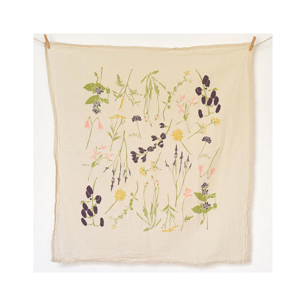 Flour Sack Tea Towel - Eastern Wildflowers