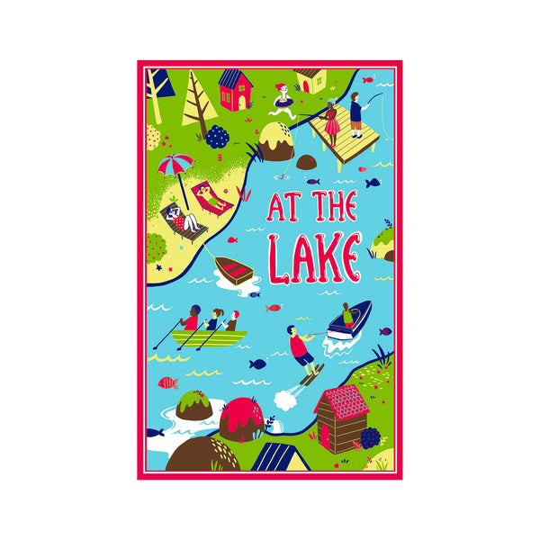 At the Lake Kitchen Towel