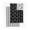 Bitmap Tea Towels Set of 2 - Black/ White