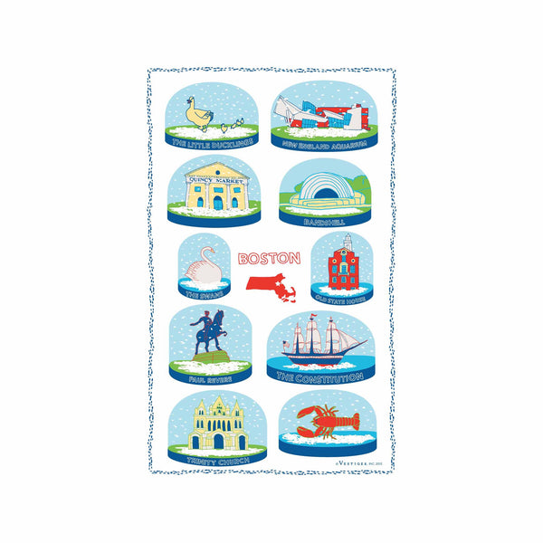 Boston Snow Globes Kitchen Towel
