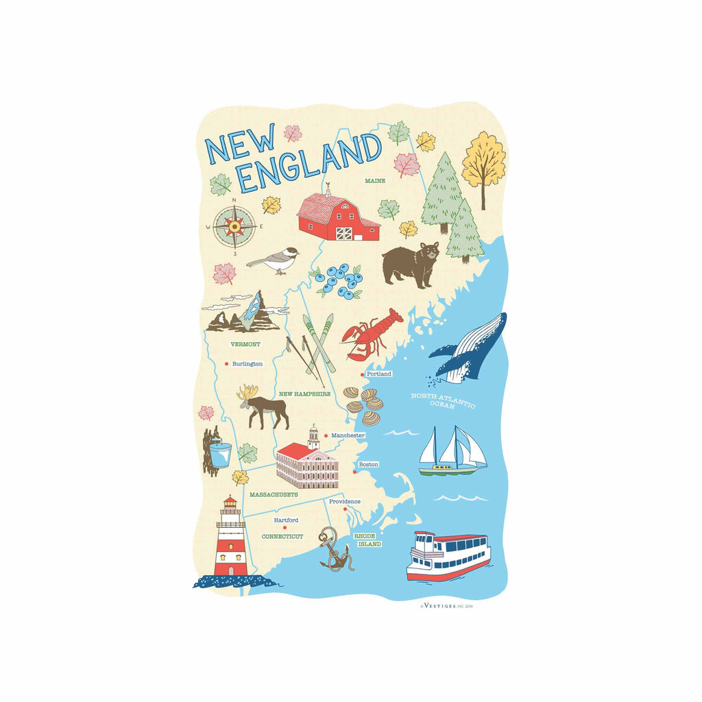 New England Region Kitchen Towel