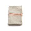 South African Cotton Striped Tea Towel - Orange