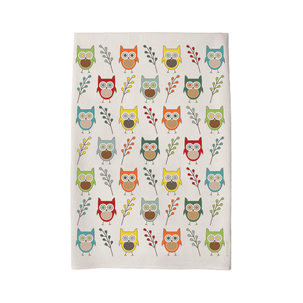 Coast & Cotton Tea Towel -  Owls