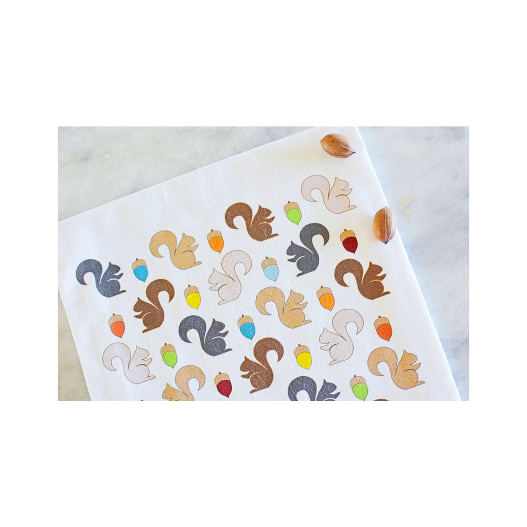 Coast & Cotton Tea Towel -  Squirrels
