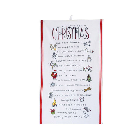 What I Love About Christmas Tea Towel