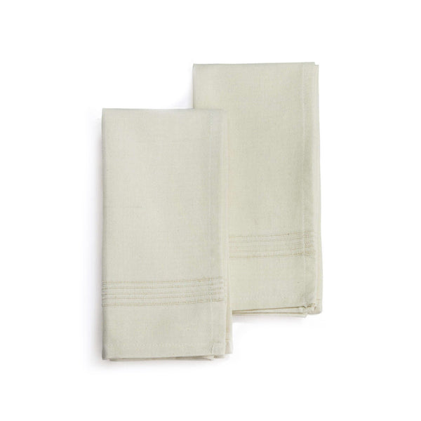 Hand-woven Cotton Napkins Set of 2 - Whipped Cream