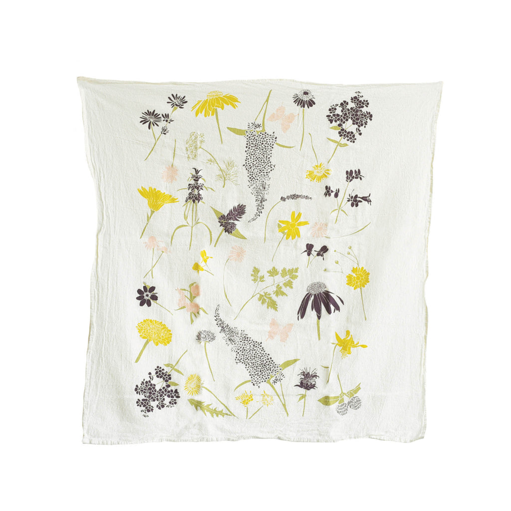 Flour Sack Tea Towel - Butterfly Garden