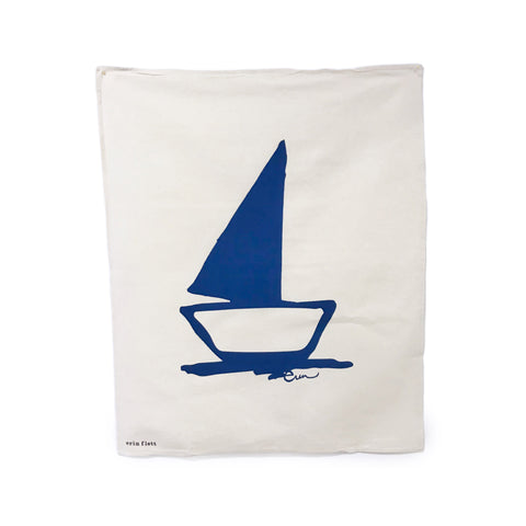 Erin Flett Summertime Tea Towel - Sailboat