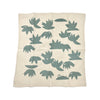 Erin Flett Lotus Napkins Set of 2 - Slate - open