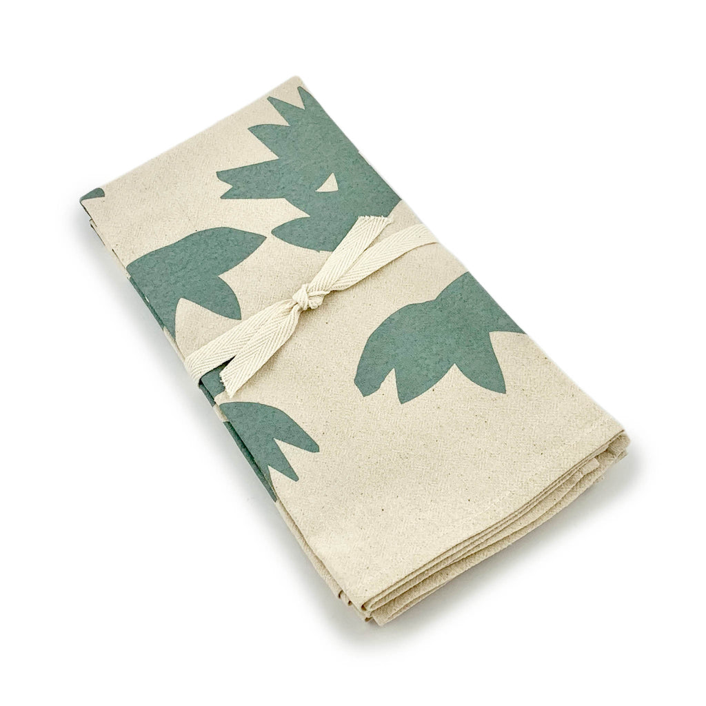 Erin Flett Lotus Napkins Set of 2 - Slate