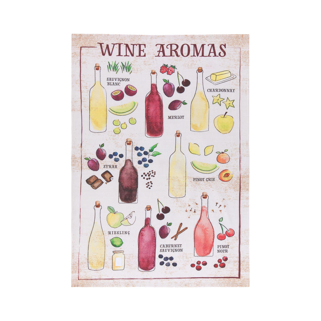 Wine Aromas Dish Towel