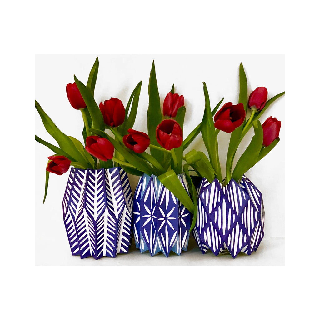 Lucy Grymes Vase Wraps - Blue