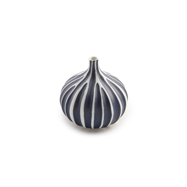 Porcelain Congo Tiny Bulb Vases - Small - Shaped Navy