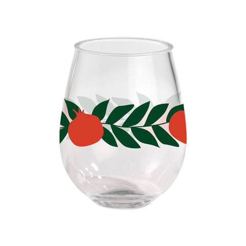 Kate Nelligan Pomegranates Acrylic Wine Glass