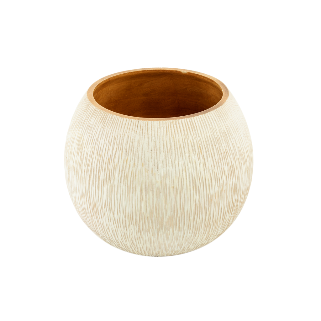 Mango Wood Low Vase