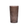 Aspen Bark Glass Vase - Smoke - Medium