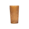 Aspen Bark Glass Vase - Amber - Medium
