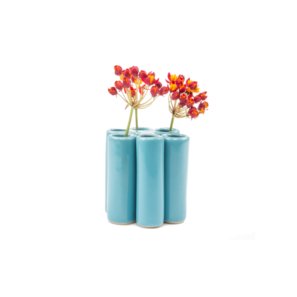 Puzzle Pooley Vase - Baby Blue