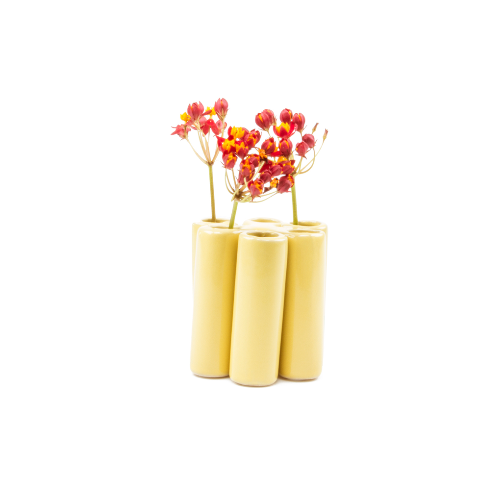 Puzzle Pooley Vase - Yellow