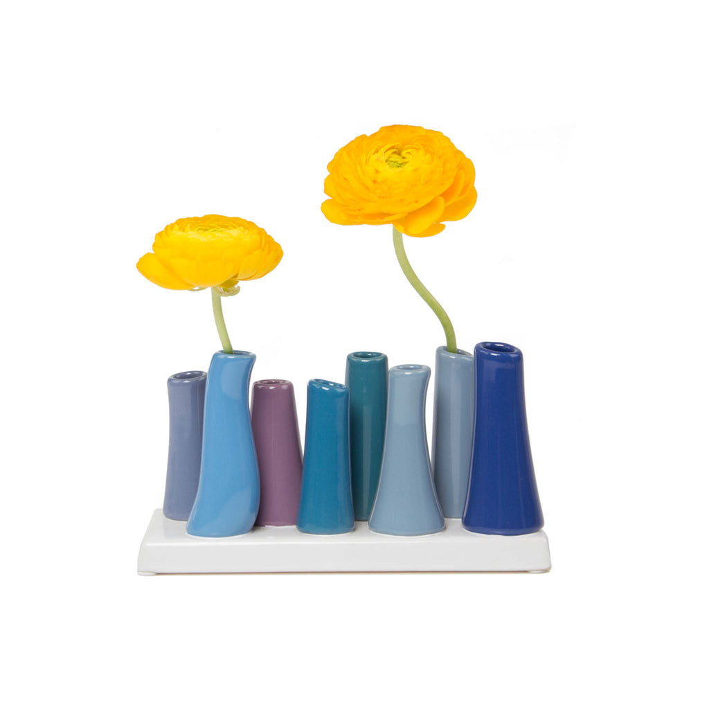 Pooley Tube Vase - Cobalt