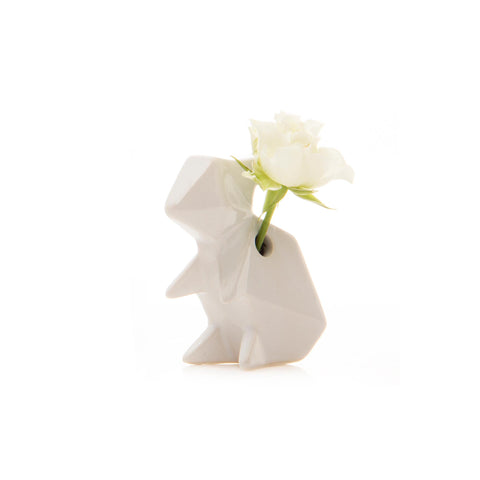 Rabbit Vase - White