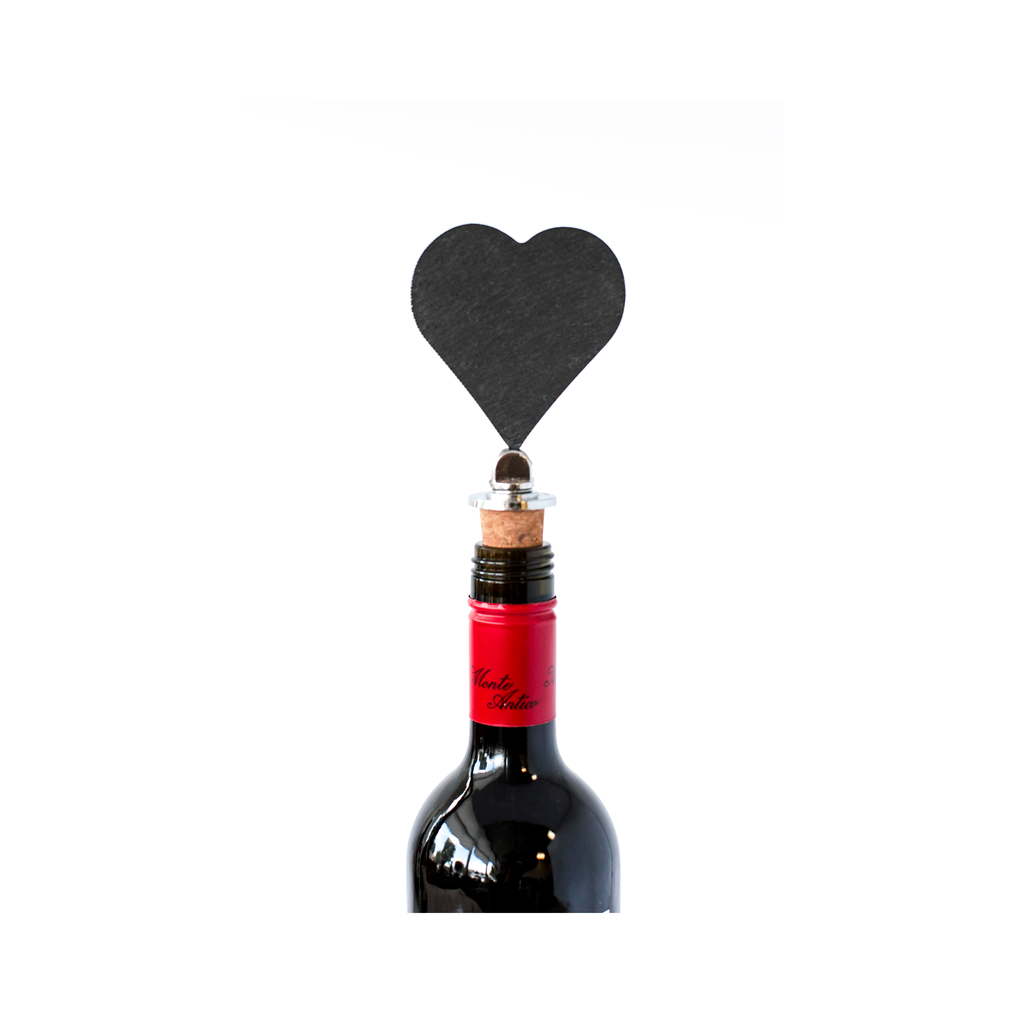 Slate Wine Topper - Heart